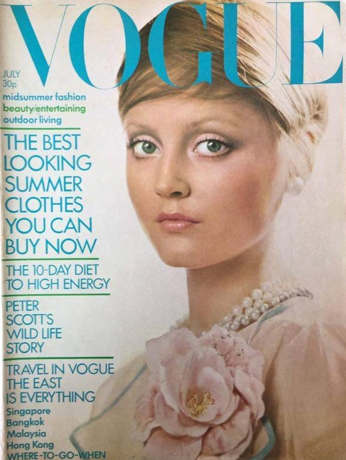 British Vogue Cover July 1972