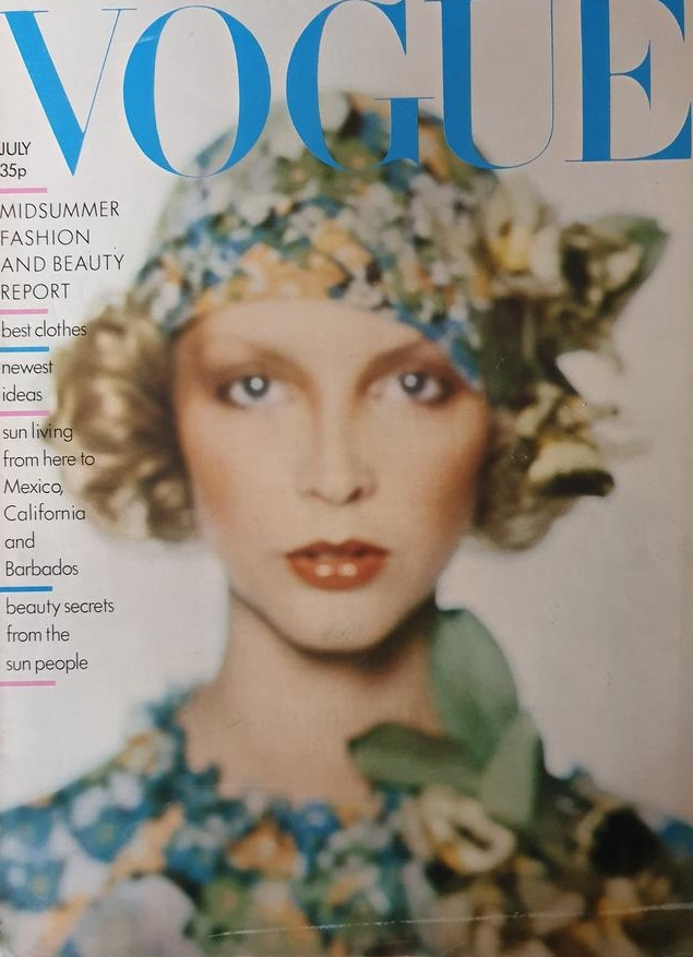 British Vogue Cover July 1974