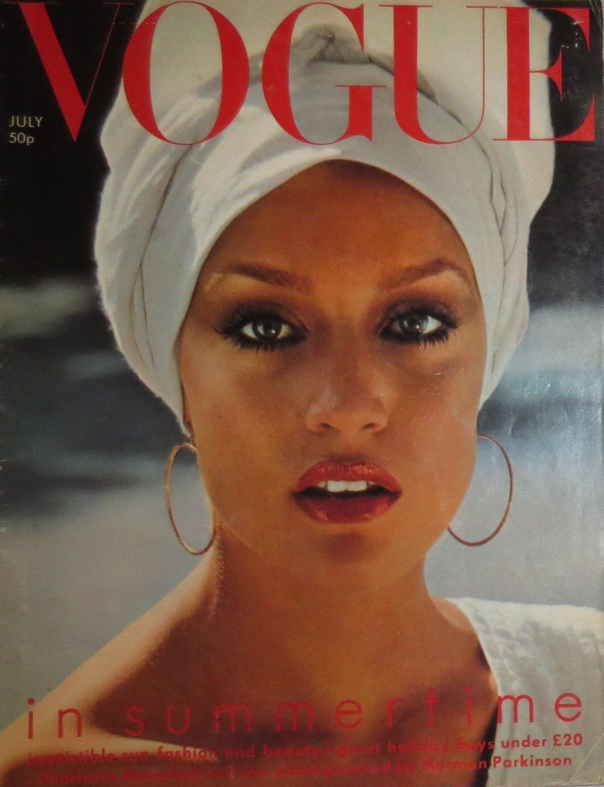 British Vogue Cover July 1975
