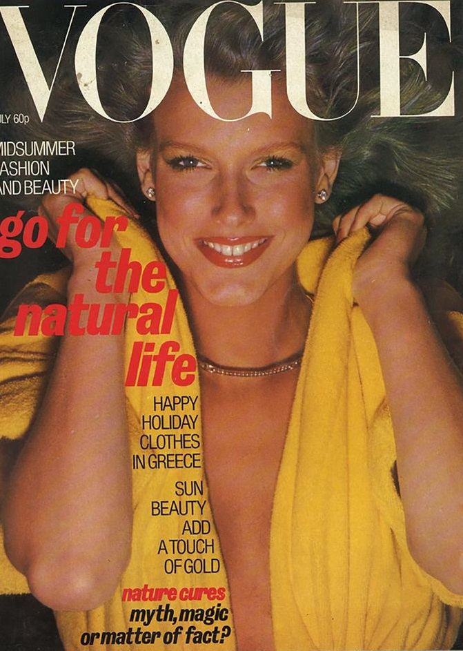 British Vogue Cover July 1977