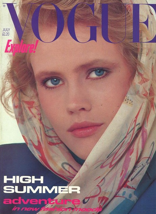 British Vogue Cover July 1982