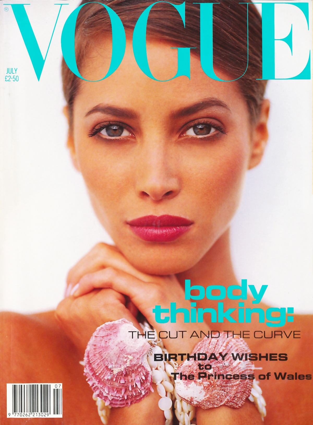 British Vogue Cover July 1991