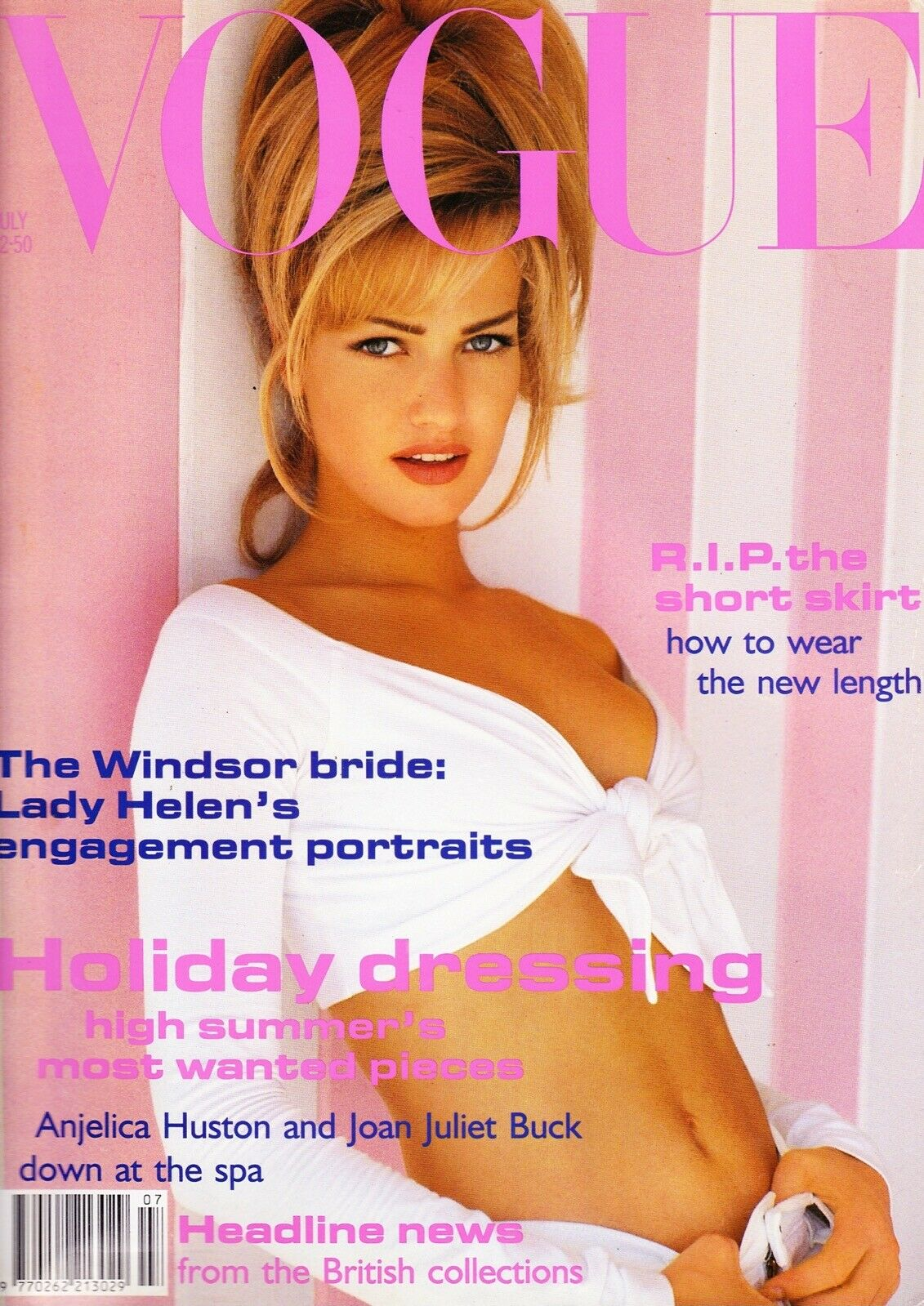 British Vogue Cover July 1992