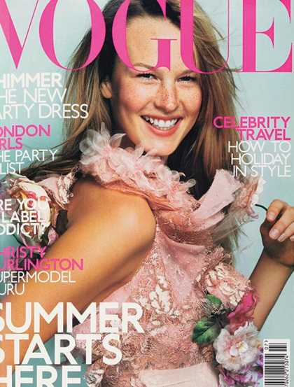 British Vogue Cover July 2000
