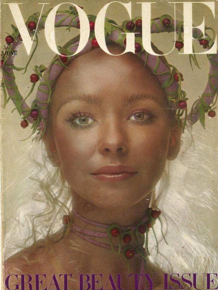 British Vogue Cover June 1970