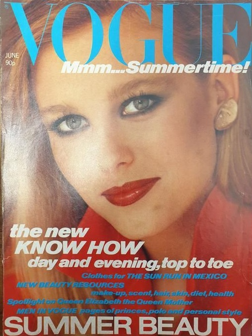 British Vogue Cover June 1980