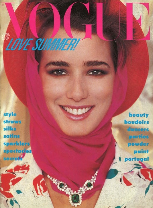 British Vogue Cover June 1984