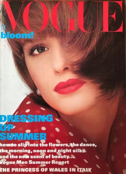 British Vogue Cover June 1985