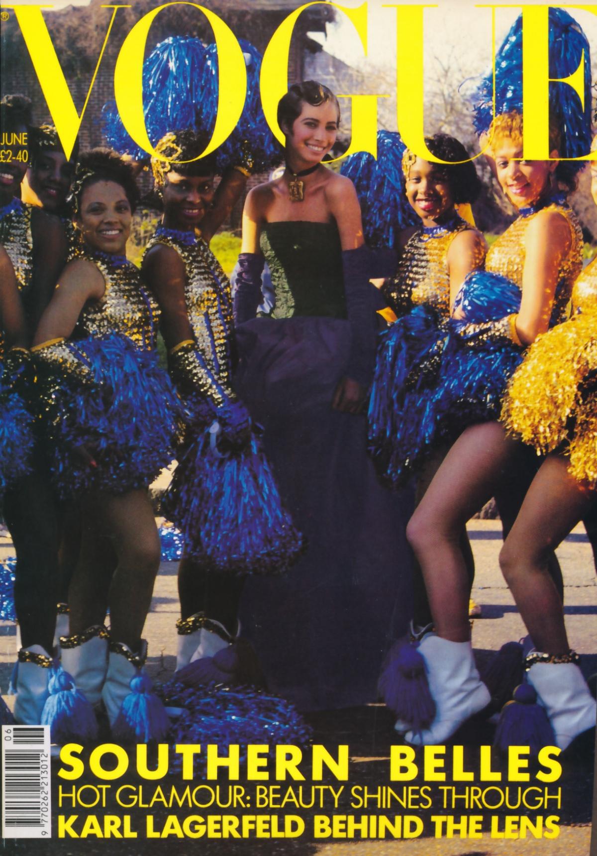 British Vogue Cover June 1990