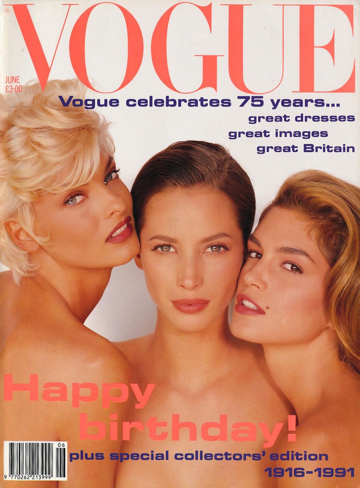 British Vogue Cover June 1991