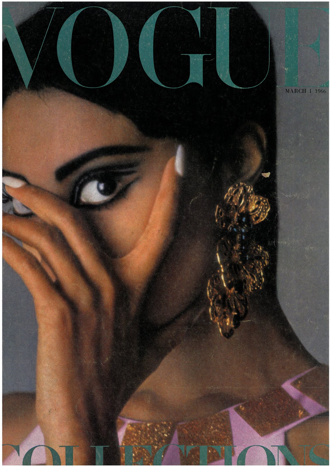 British Vogue Cover March 1966