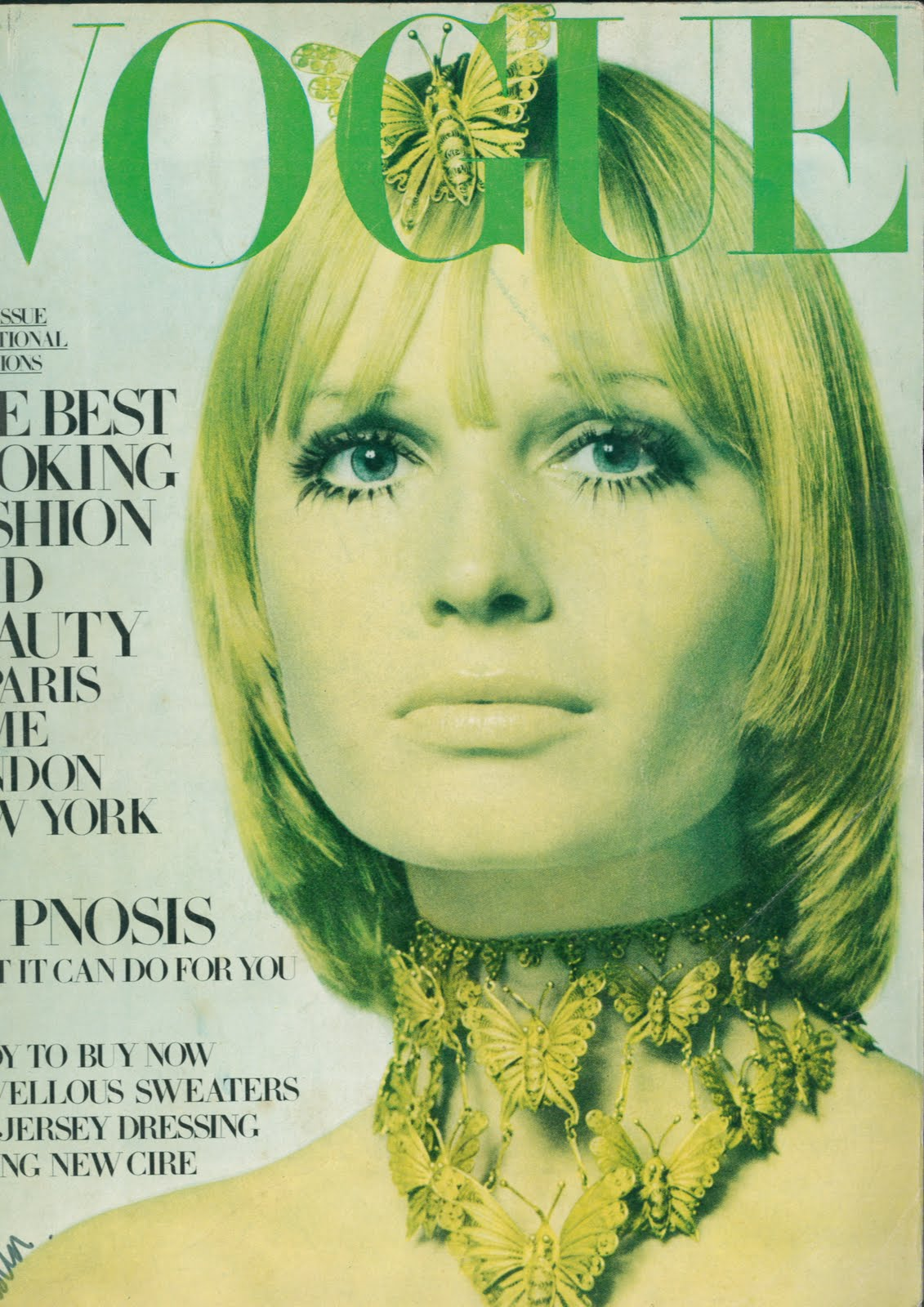 British Vogue Cover March 1969