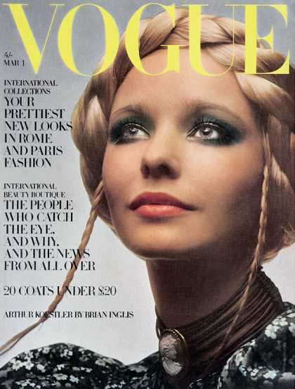 British Vogue Cover March 1970