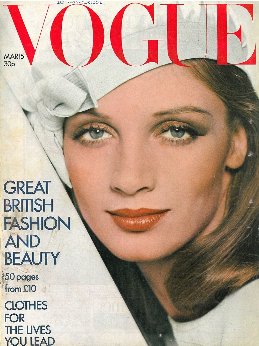 British Vogue Cover March 1973