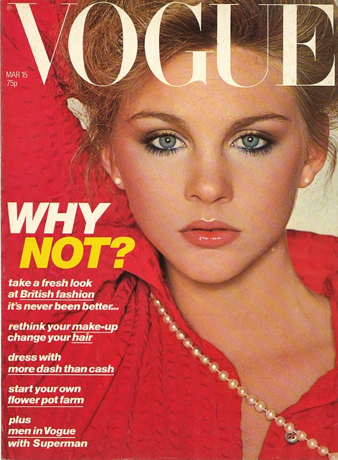 British Vogue Cover March 1978