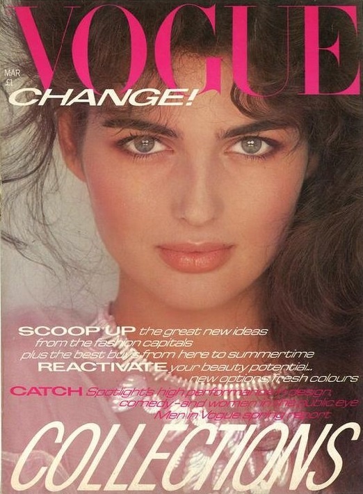 British Vogue Cover March 1981