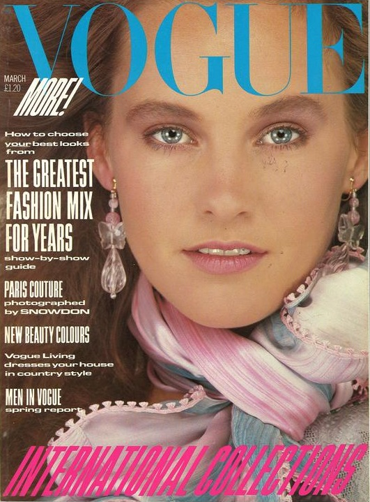 British Vogue Cover March 1982