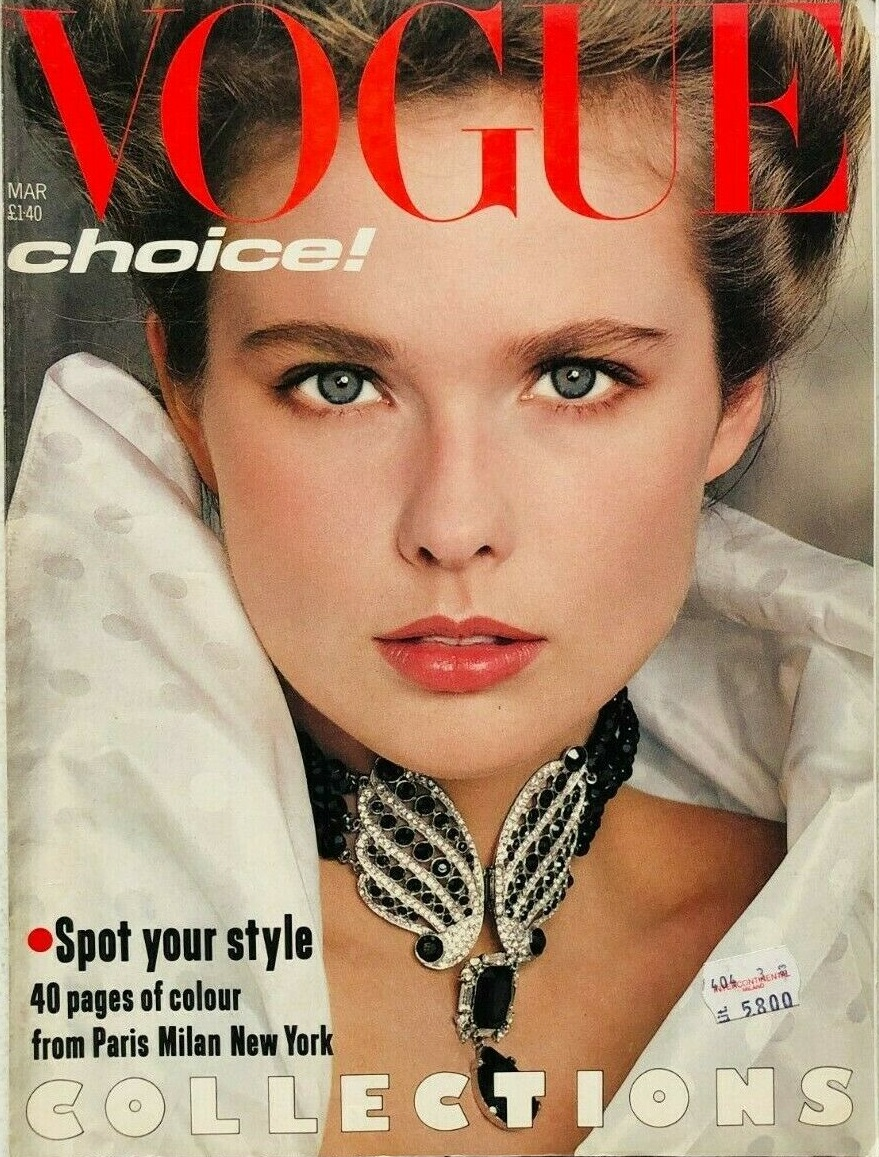 British Vogue Cover March 1983