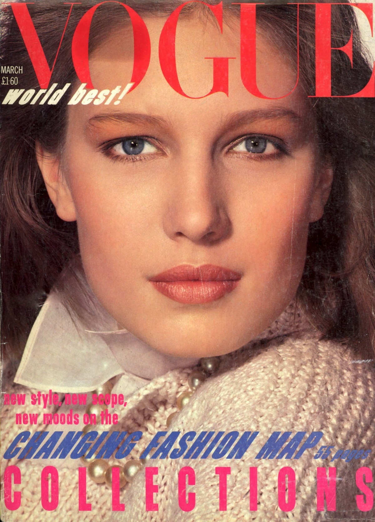 British Vogue Cover March 1984