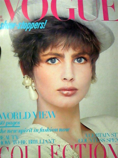 British Vogue Cover March 1985