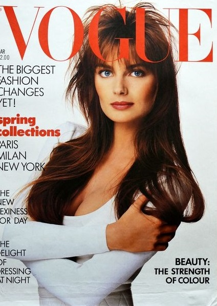 British Vogue Cover March 1987