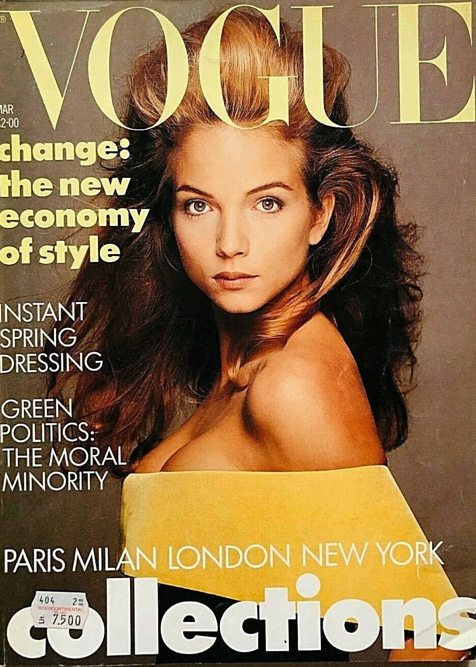 British Vogue Cover March 1988