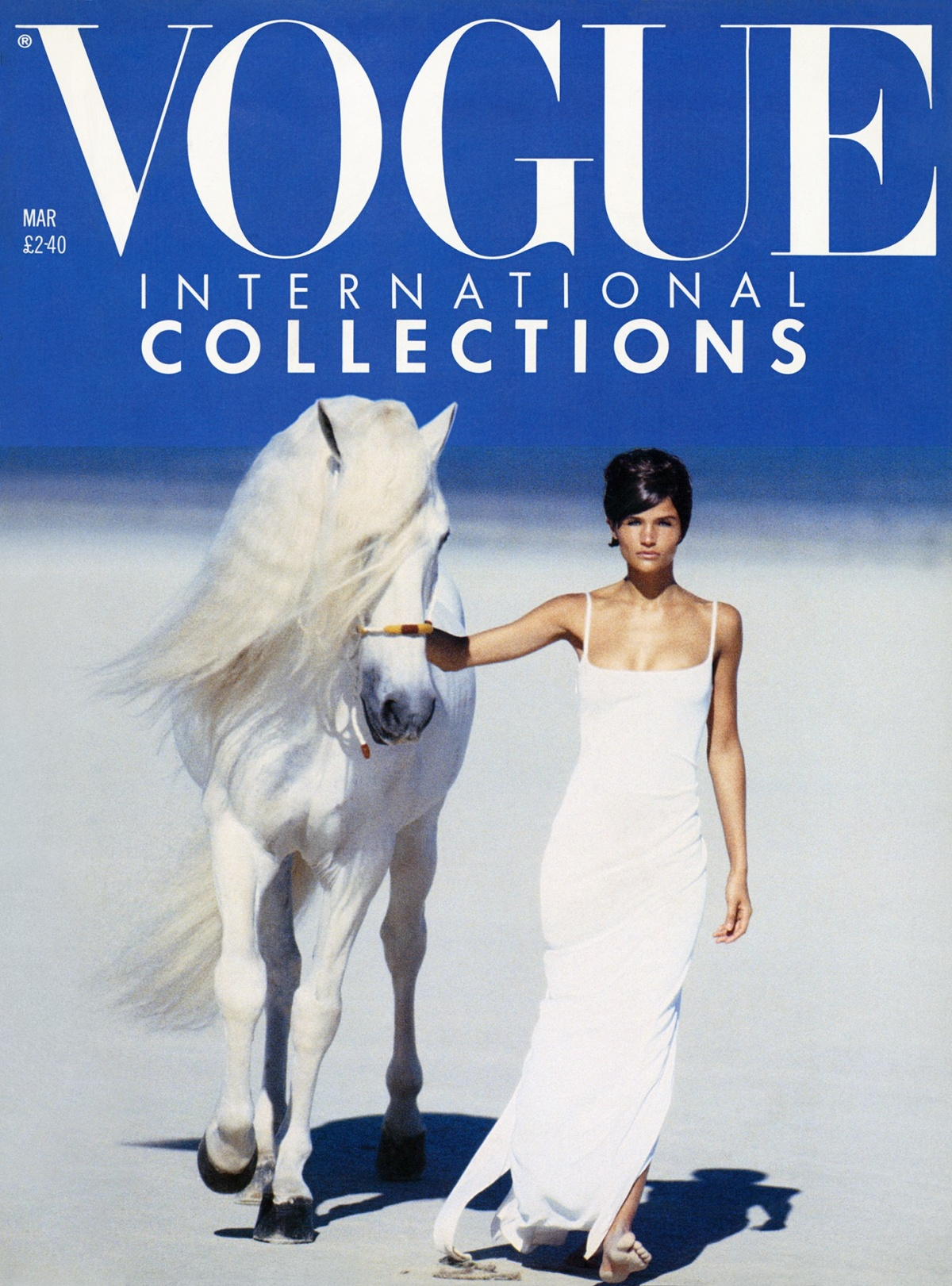 British Vogue Cover March 1990