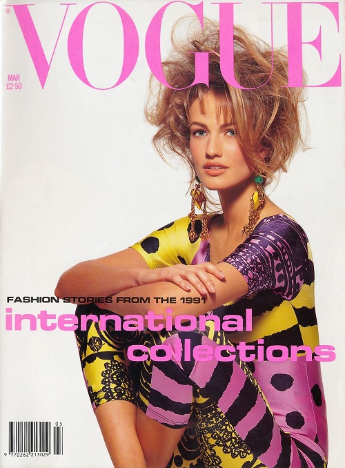 British Vogue Cover March 1991