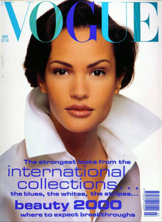 British Vogue Cover March 1992