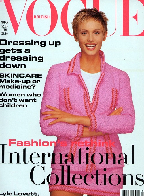 British Vogue Cover March 1994