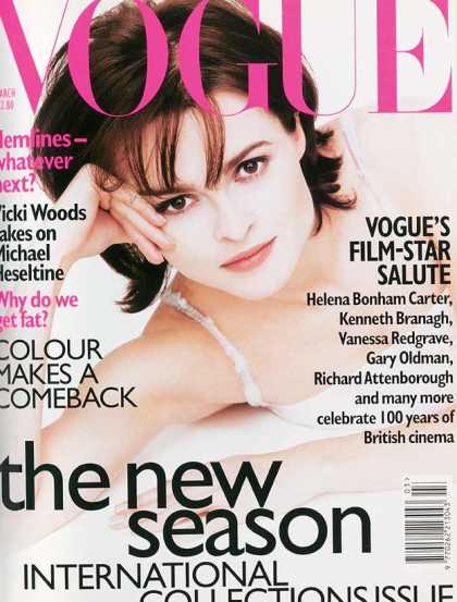 British Vogue Cover March 1996
