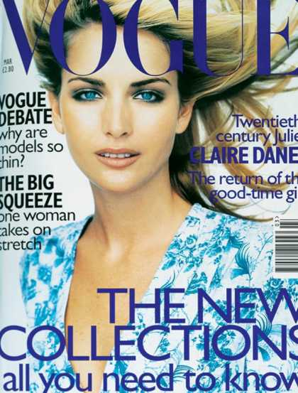 British Vogue Cover March 1997