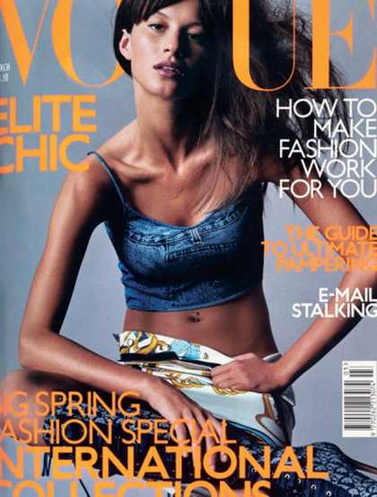 British Vogue Cover March 2000