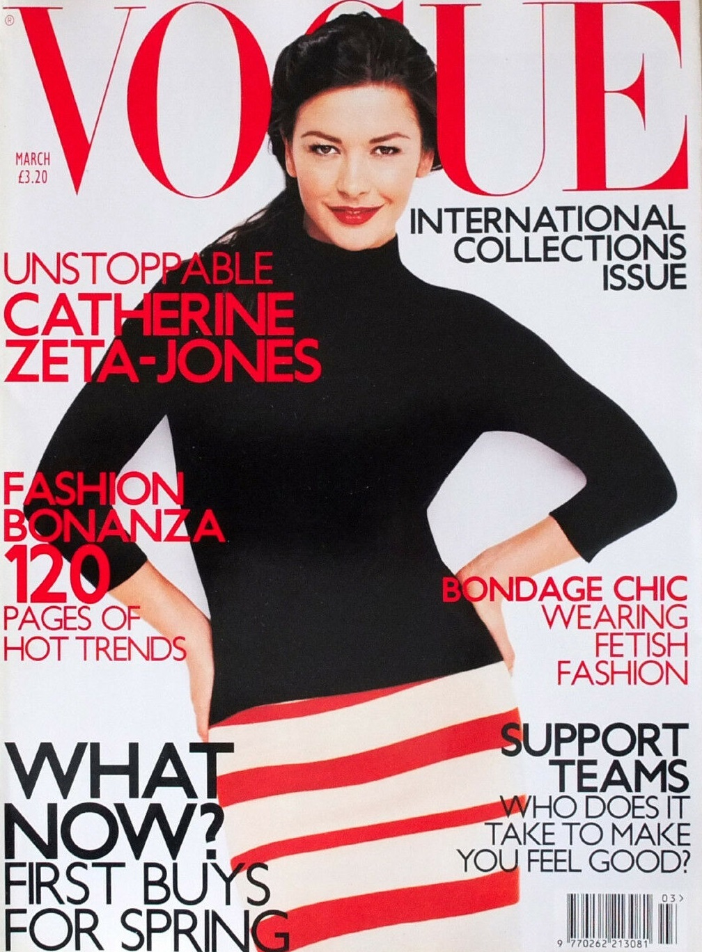 British Vogue Cover March 2001
