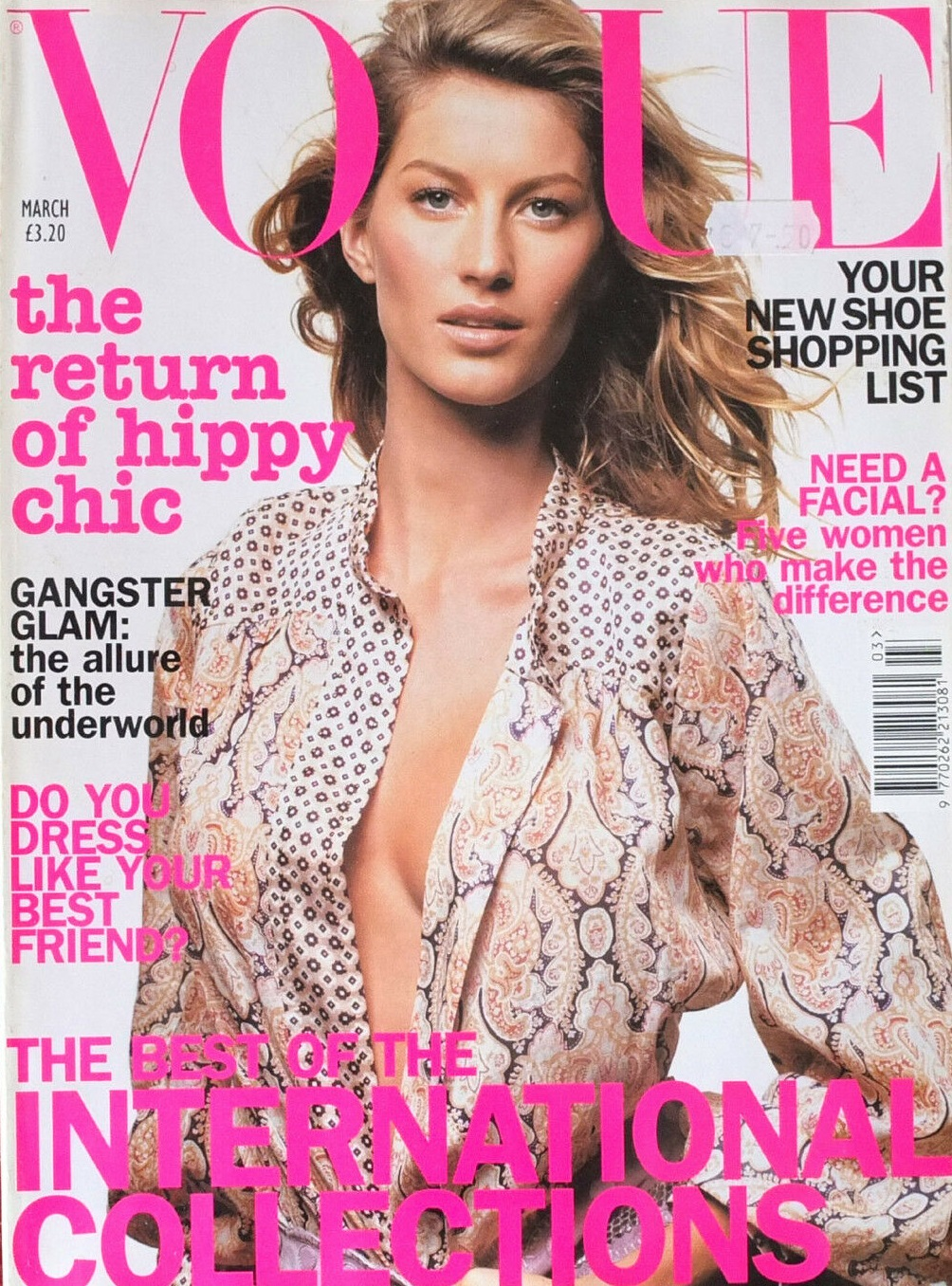 British Vogue Cover March 2002