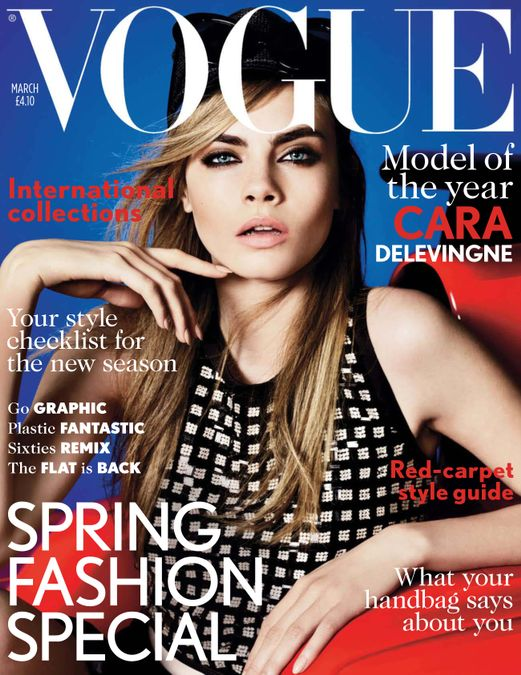 British Vogue Cover March 2013
