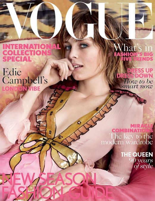 British Vogue Cover March 2016