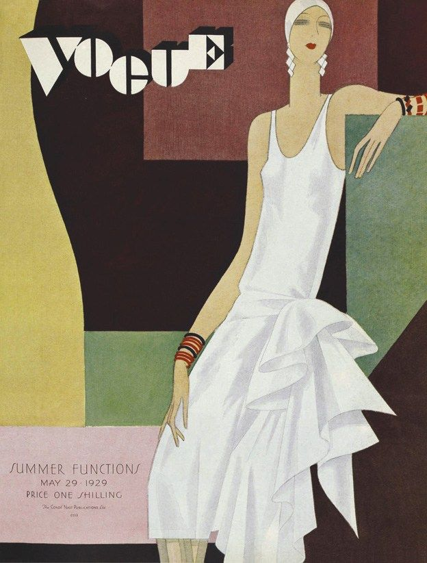 British Vogue Cover May 1929
