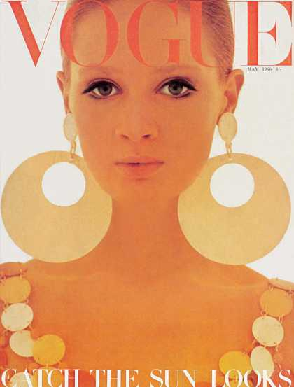 British Vogue Cover May 1966