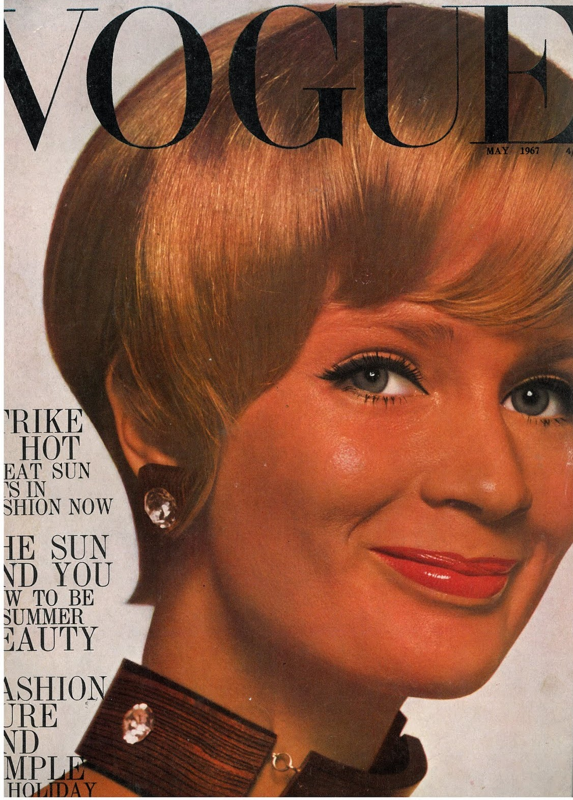 British Vogue Cover May 1967