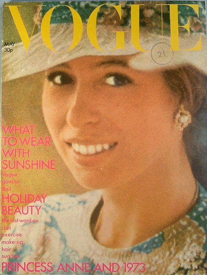 British Vogue Cover May 1973