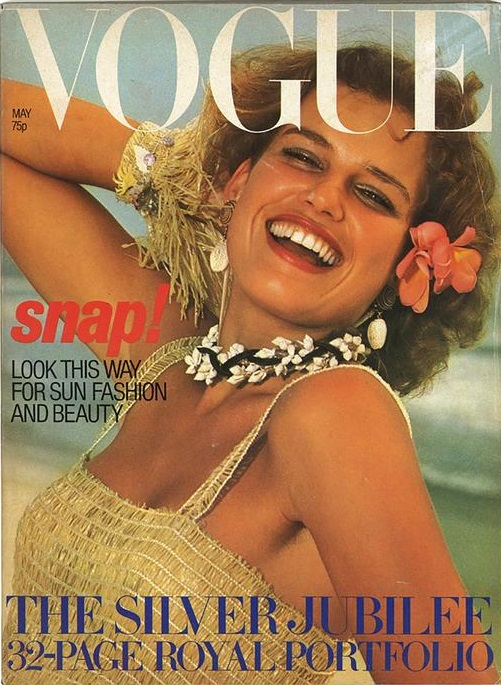 British Vogue Cover May 1977