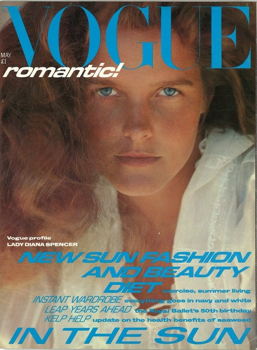 British Vogue Cover May 1981
