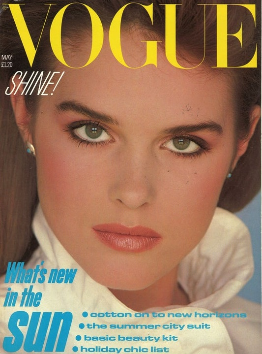 British Vogue Cover May 1982