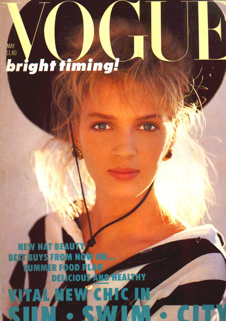 British Vogue Cover May 1986
