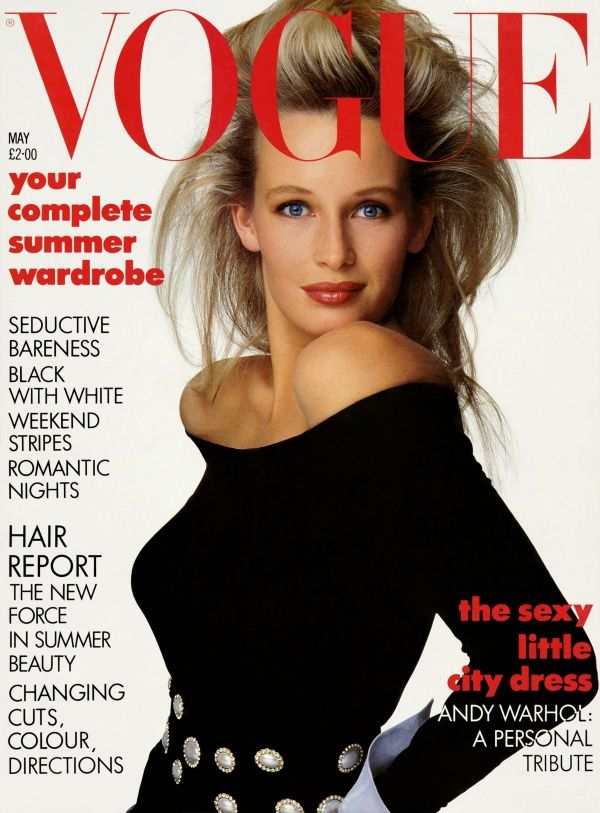 British Vogue Cover May 1987