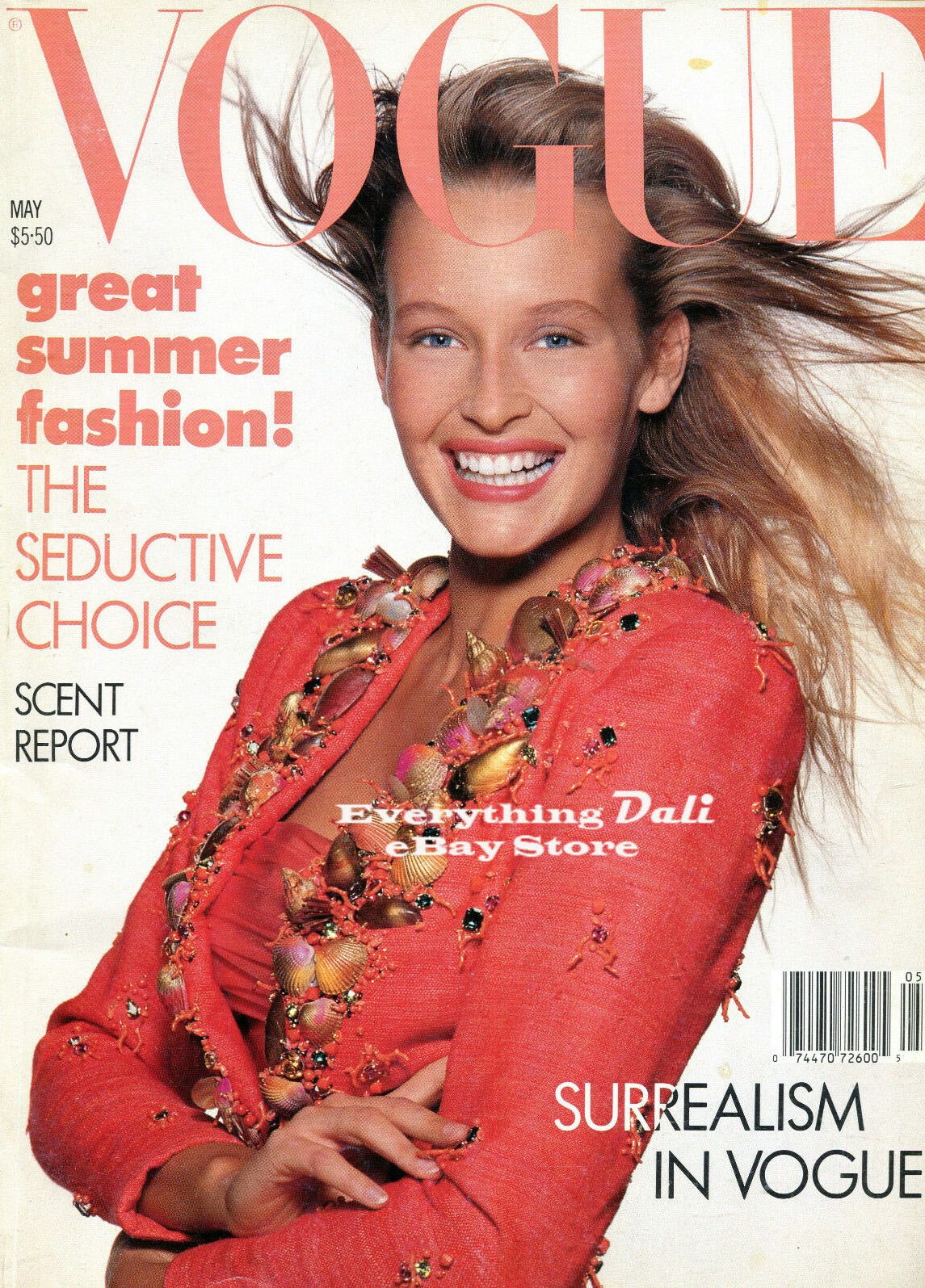 British Vogue Cover May 1988