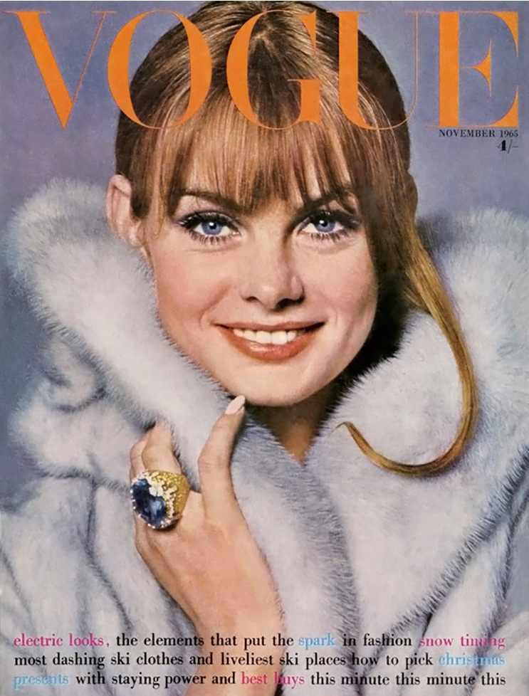 British Vogue Cover November 1965