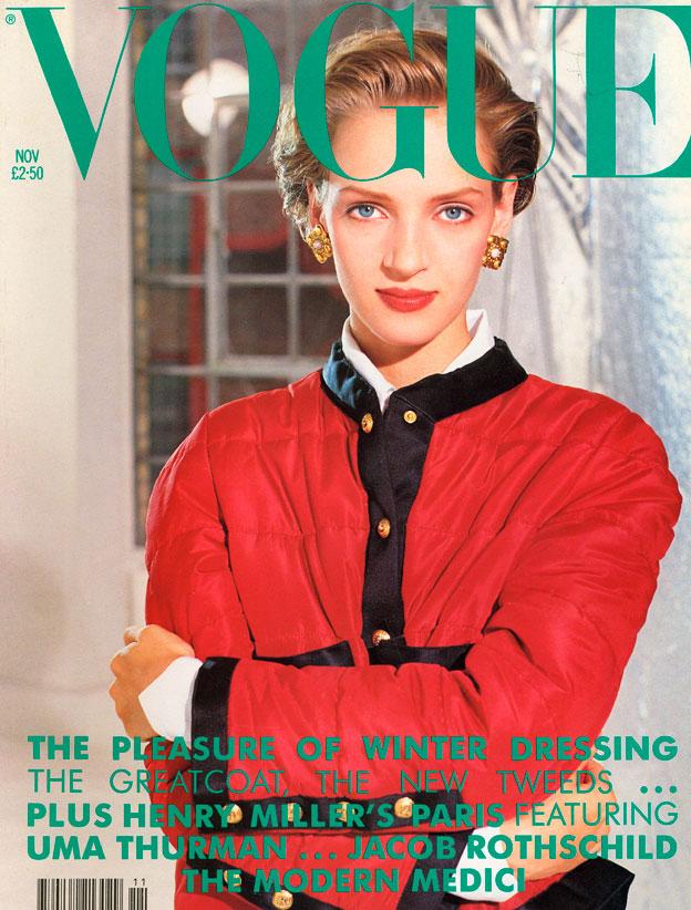 British Vogue Cover November 1990