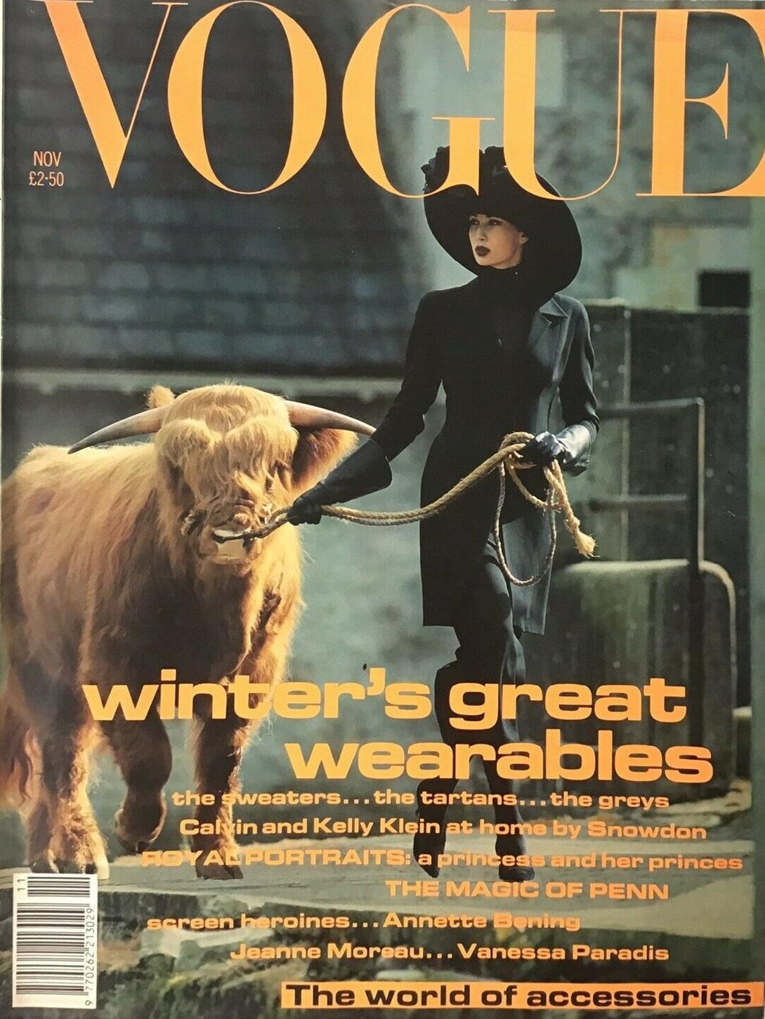 British Vogue Cover November 1991